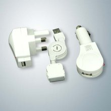 US Travel AC Charger Kit for 3G Iphone