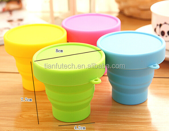 170ml/200ml outdoor silicone folding/collapsible cup