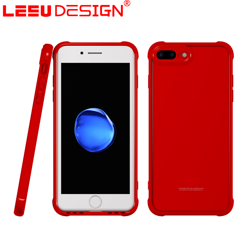 LEEU DESIGN new patent clear tpu bumper acrylic cell phone case for iphone 7