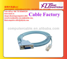 Factory Wholesale RS232 Serial DB9 to RJ45 Console Cable