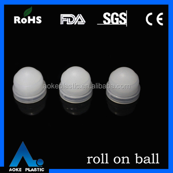 19.05mm roll on bottle parts large plastic solid ball with holder