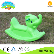 Factory outlet kids indoor green plastic plush rocking horse for sale