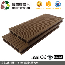 Outdoor wood plastic tongue and groove composite decking cheap price wpc flooring