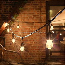 25Ft Connectable Outdoor Garden Party Patio Bistro Market Cafe Hanging Socket Lamp LED Globe Outdoor String Lights G40 Bulbs