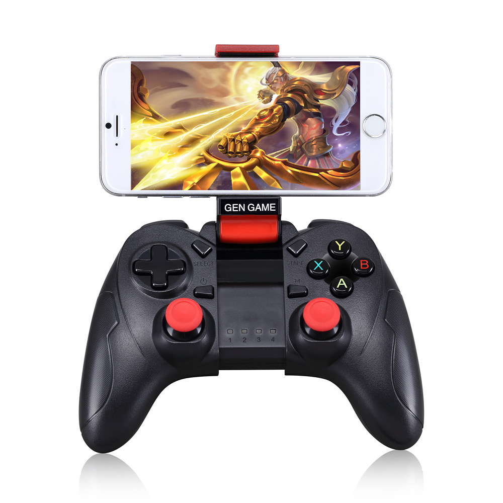Wireless Gamepad Joystick Gaming <strong>Controller</strong> for Smartphone with Phone Holder