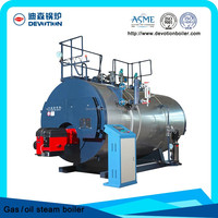 Natural gas fired steam boiler 3ton/h for heating cooking mixer