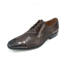 Tan color cowhid leather dress shoes for men formal derby footwear