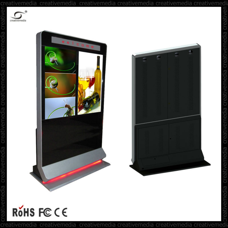 32-65 inch multi touch screen panel touch screen all in one pc advertising floor display advertising tv monitor player wifi