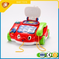 Promotional Red Plastic Telephone Toy Battery