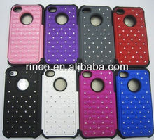 2 in 1 Luxury Bling Diamond Crystal Star Hard Case Cover For Apple iPhone 4 4G 4S
