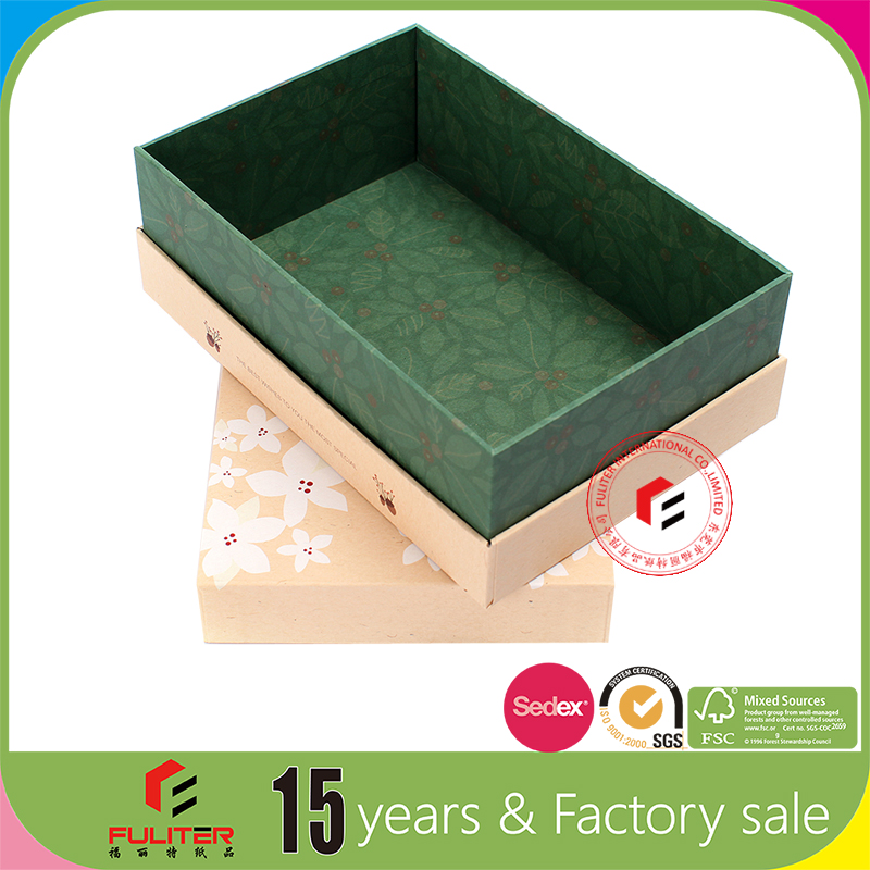 Factory price eco-friendly kraft paper 5x7 gift box manufacturer