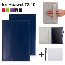 PU leather cover case with hand holder for Huawei MediaPad T3 10 AGS-W09/AGS-L09 quality case for Honor Play Pad 2 9.6