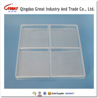 Disposable Plastic Dessert Chocolate Packaging Tray