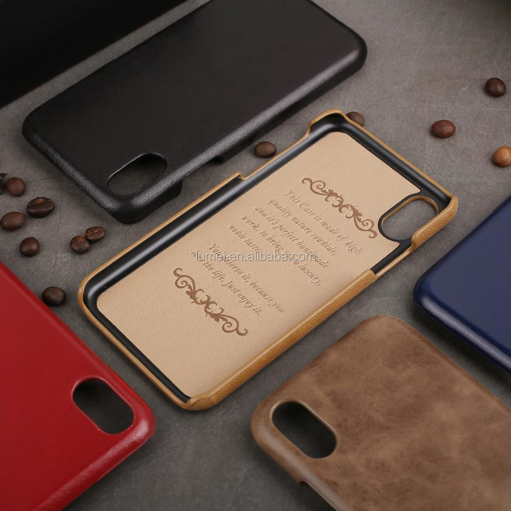 Genuine leather case for iphone X,Luxury top leather case