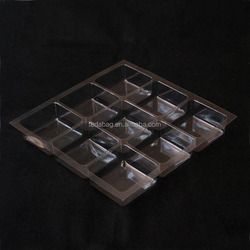 Produce brown blister plastic chocolate tray