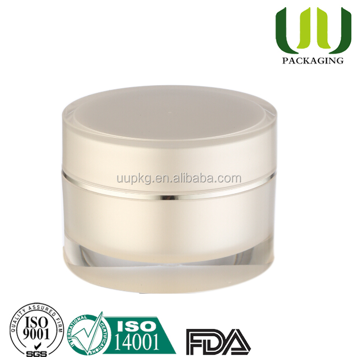 UU packaging 50g pearl white acrylic jar