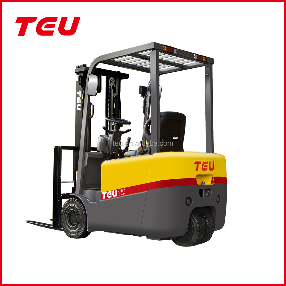 TEU 1.5 ton 3 Wheel fork lift truck electric forklifts