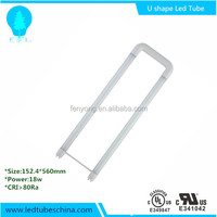 Professional Factory Sale SMD 120lm/w 2ft 18w u shape led tube light free japanese tube