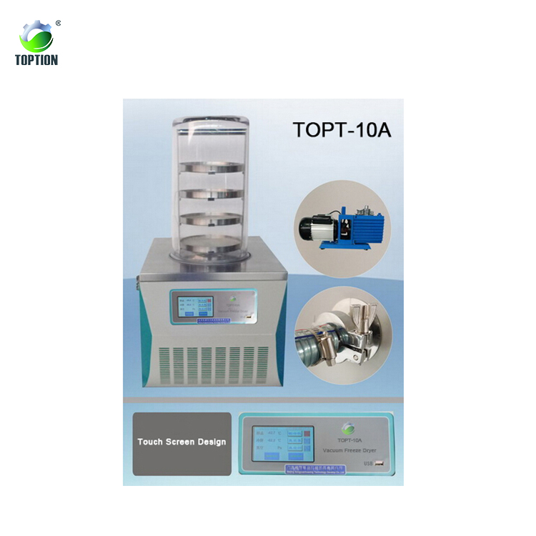 Toption Multi-pipe Small Vacuum Freeze Dryer TOPT-10C