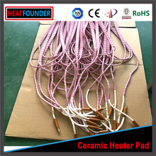 HEATFOUNDER Customized Flexible Ceramic Pad Heater Thermal shock resistance customized
