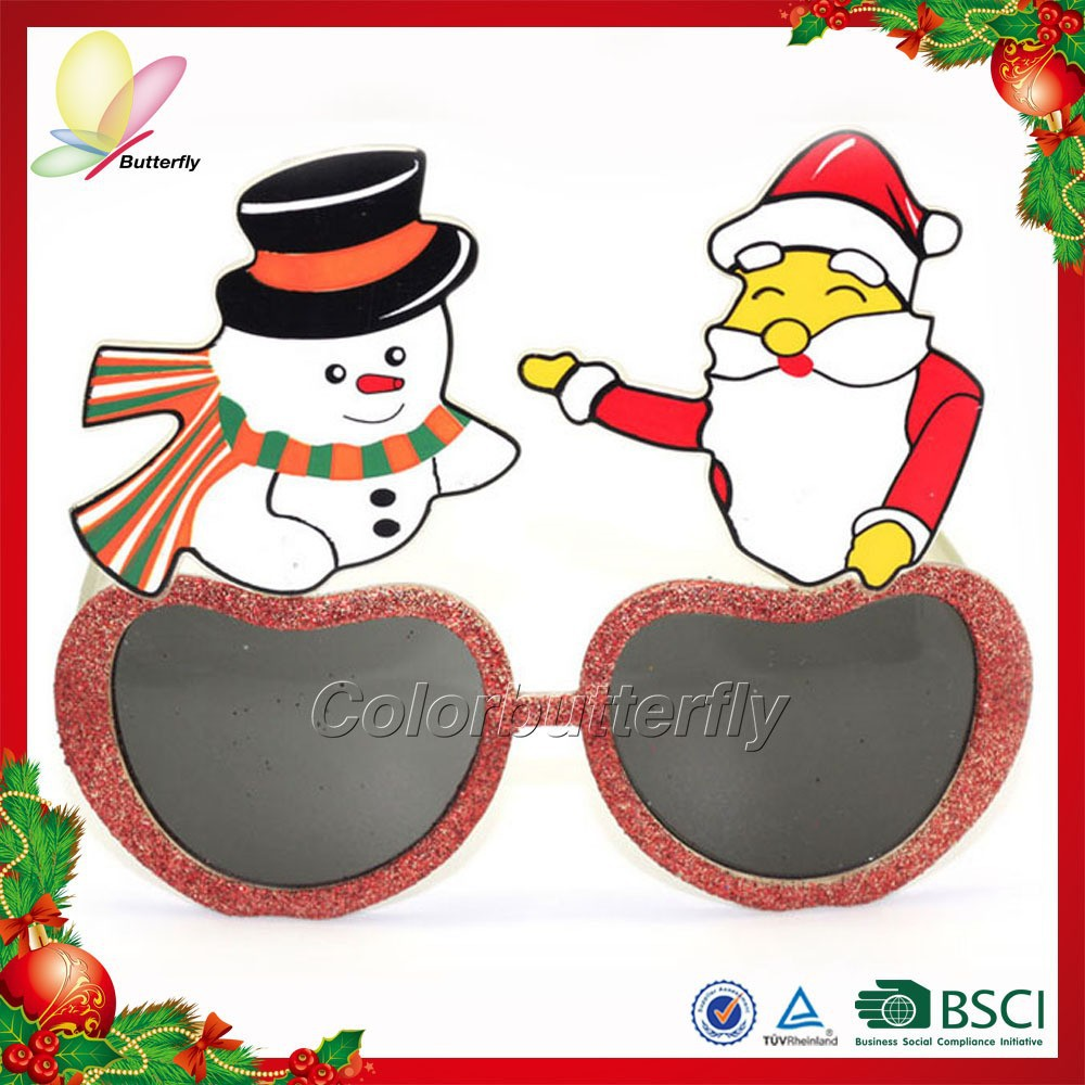 2015 China fabric cheap wholesale new style christmas crazy party novelty glasses frames for funny