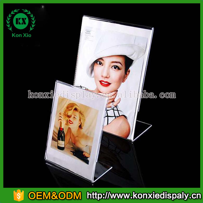acrylic table stand magnetic menu card sign holder