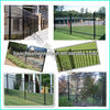 4 ft High dupont steel fence with 3 rails