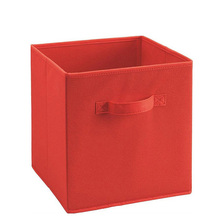 Home small cube non woven clothes basket fabric foldable storage bin cube box