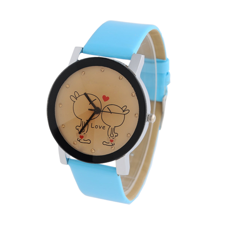 2016 Creative fashion Cartoon Unisex cheap children watches cute love watch faces fancy watches for kids wrist
