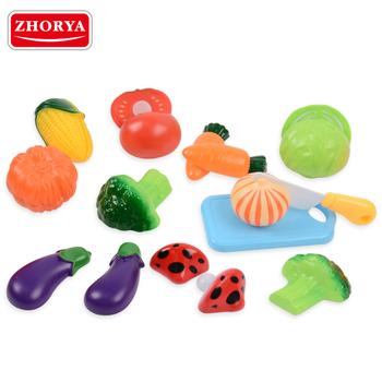 zhorya high quality cheap kids basic skill exercise pretend kitchen cutting vegetables toy