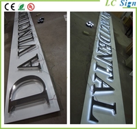 2015 China New Gold Alphabet Mirror Wall Letters