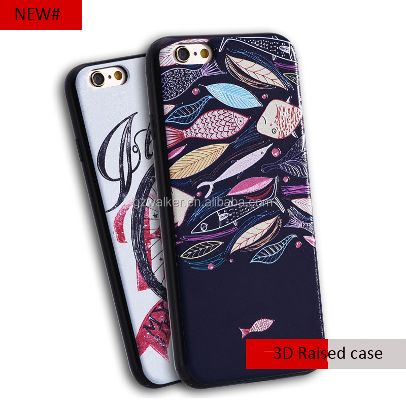 tpu 3d phone accessories case water proof phone case with UV printing flower for iphone 7 case mobile phone