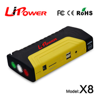 Mini 12v/24v jump starter emergency power supply for 12v gasoline and diesel cars