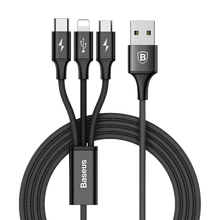 New Trending 3 in 1 USB Charging Charger And Date Sync Cable For iPhone & Micro USB & Type c