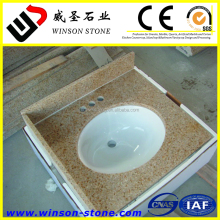 cheap yellow chinese granite bathroom countertop