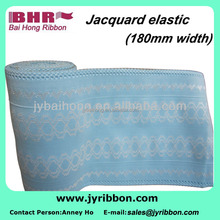 Polyester jacquard fabric tape for garment industry wide elastic band