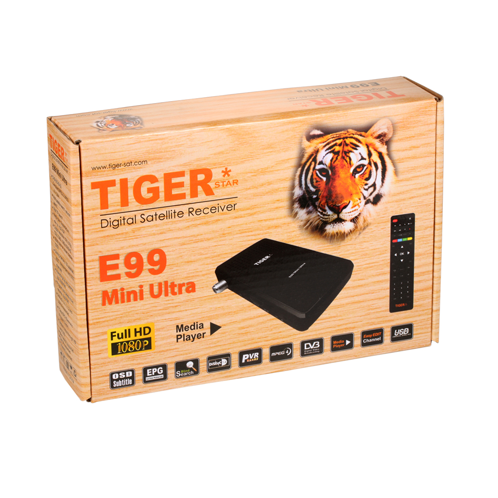 Tiger receiver Iptv E99 mini ultra Full HD 1080p DVB-S2 World TV box