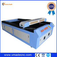 New Design 2500mm 100W CO2 Acrylic Laser Cutting Bed/China Machine Factory Co2 laser bed cutting vmade1325 for cutting wood
