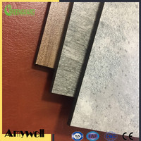 Amywell Hot sale fireproof leather surface solid phenolic hpl panel
