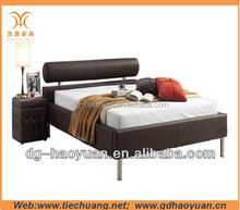 Modern design low price comfortable leather bed
