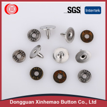 2017 factory supply embossed denim buttons and metal rivet buttons for clothing