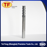 Cnc Engraving And Milling Machine Cutting Tools 4 Flutes Tungsten Solid Carbide End Mill