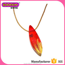 2017 BOOSIN Creative resin flower wood pendant necklace,naking jewelry with resin