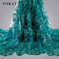 New Coming Bridal Embroidered Tulle Lace With Stones Fabric