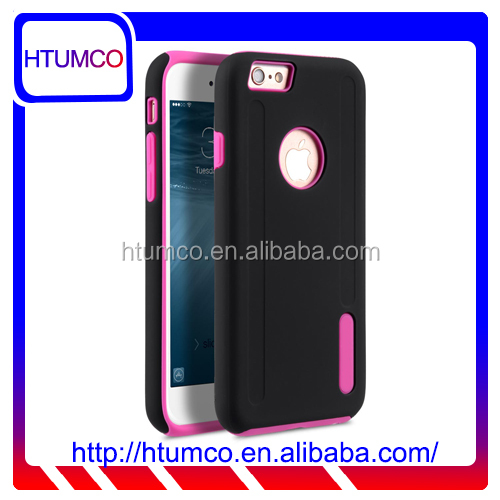 "Popular Black/Pink Double Layer Mobile phone case for Apple iPhone 6s / 6 Plus(5.5"")"