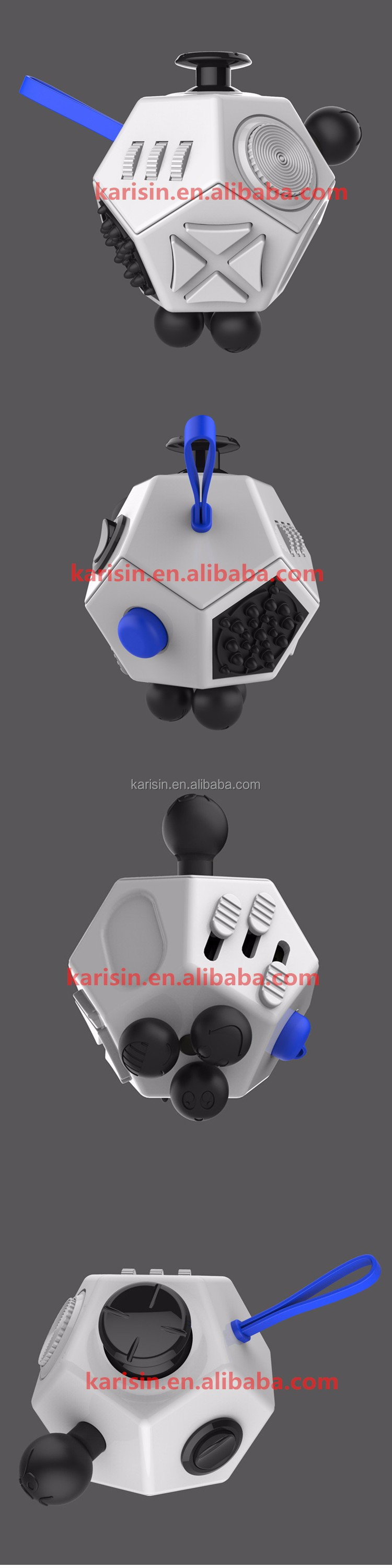 Squeeze Fun Gifts anti stress Fidget cube 12 sided dice shenzhen fidget cube for Kids & Adult