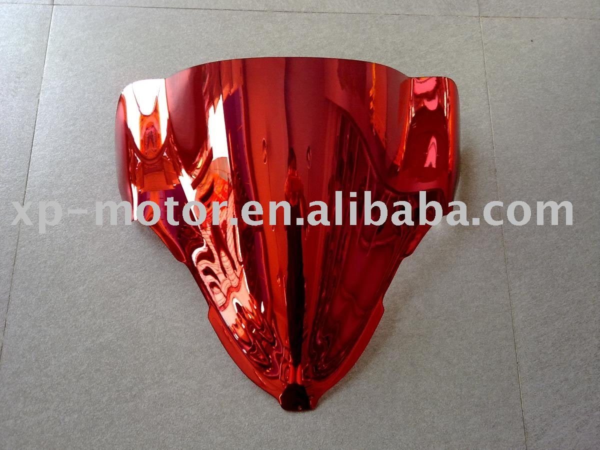 Chrome Red Motorcycle WindScreen fit for SUZUKI HAYABUSA GSXR1300