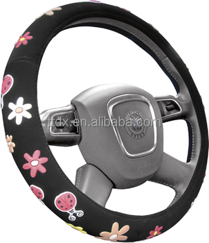 Girl Use High Quality Anime Steering Wheel Covers