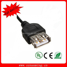 3.5mm Male to 2.0 usb female cable