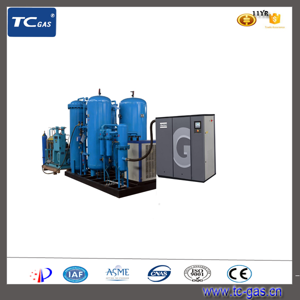 PSA Plants Release Oxygen Complete System With Air Compressor Atlas Made in China